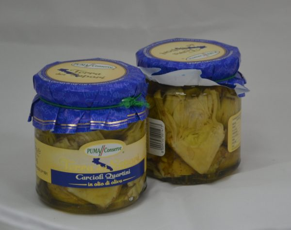 Carciofi in olio di oliva