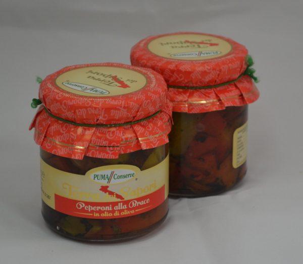 Peperoni alla brace in olio di oliva