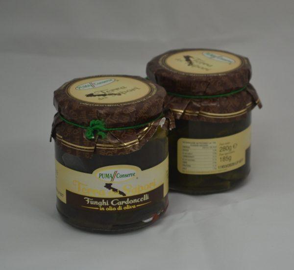 funghi cardoncelli in olio di oliva