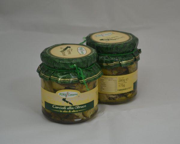 Carciofi alla brace in olio di oliva