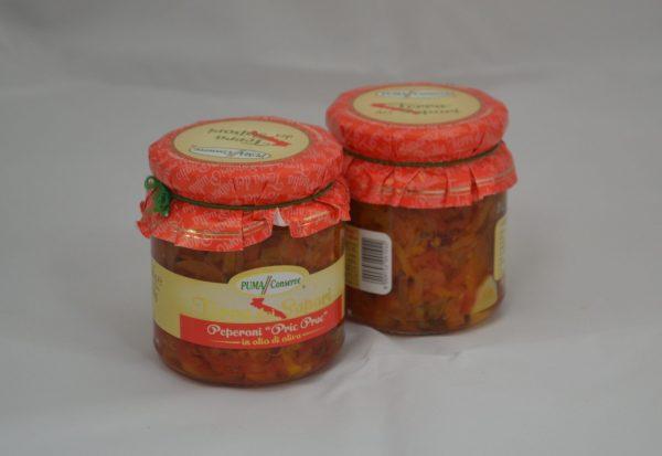 Peperoni pric prac in olio di oliva